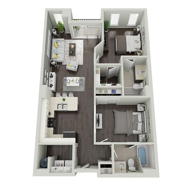 Floorplan - Two Bedroom A  image