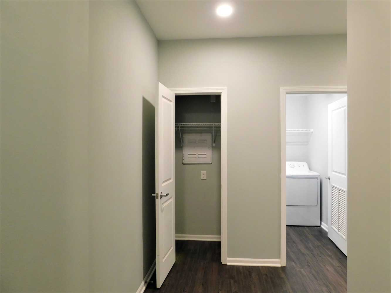 Laundry Area and Walk In Closet at Midtown Plaza Apartments in Kansas City, MO