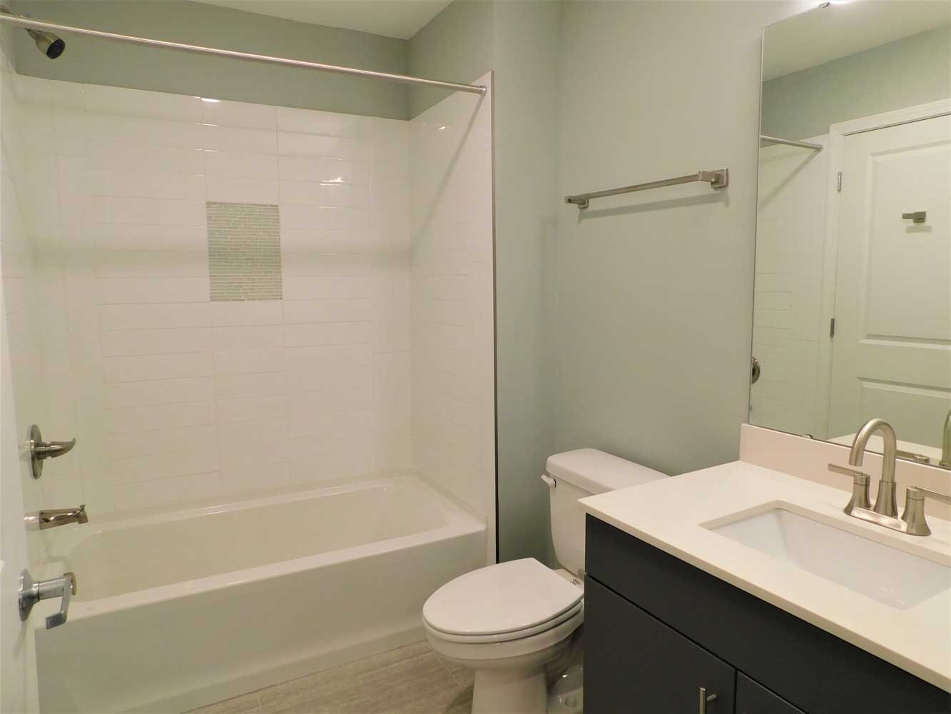 Bathroom at Midtown Plaza Apartments in Kansas City, MO