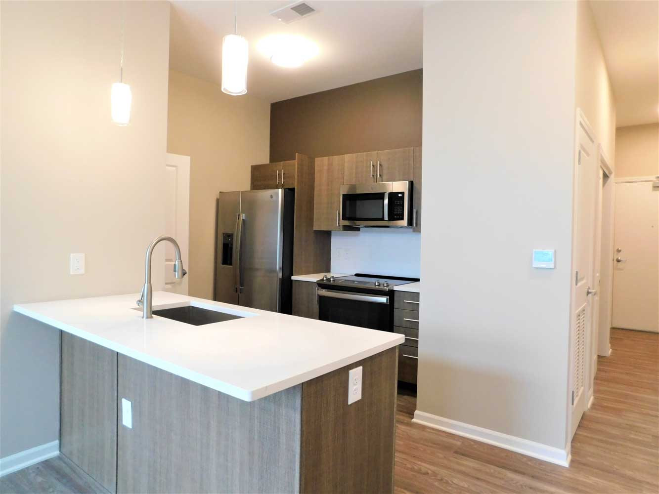 Stainless Steel Kitchen Equipments at Midtown Plaza Apartments in Kansas City, MO