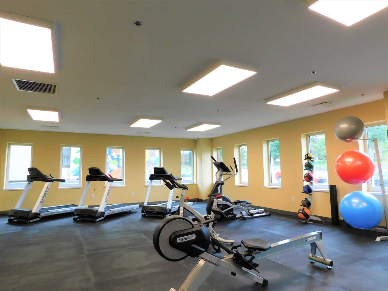 Fully equipped Workout Facility at Midtown Plaza Apartments in Kansas City, MO