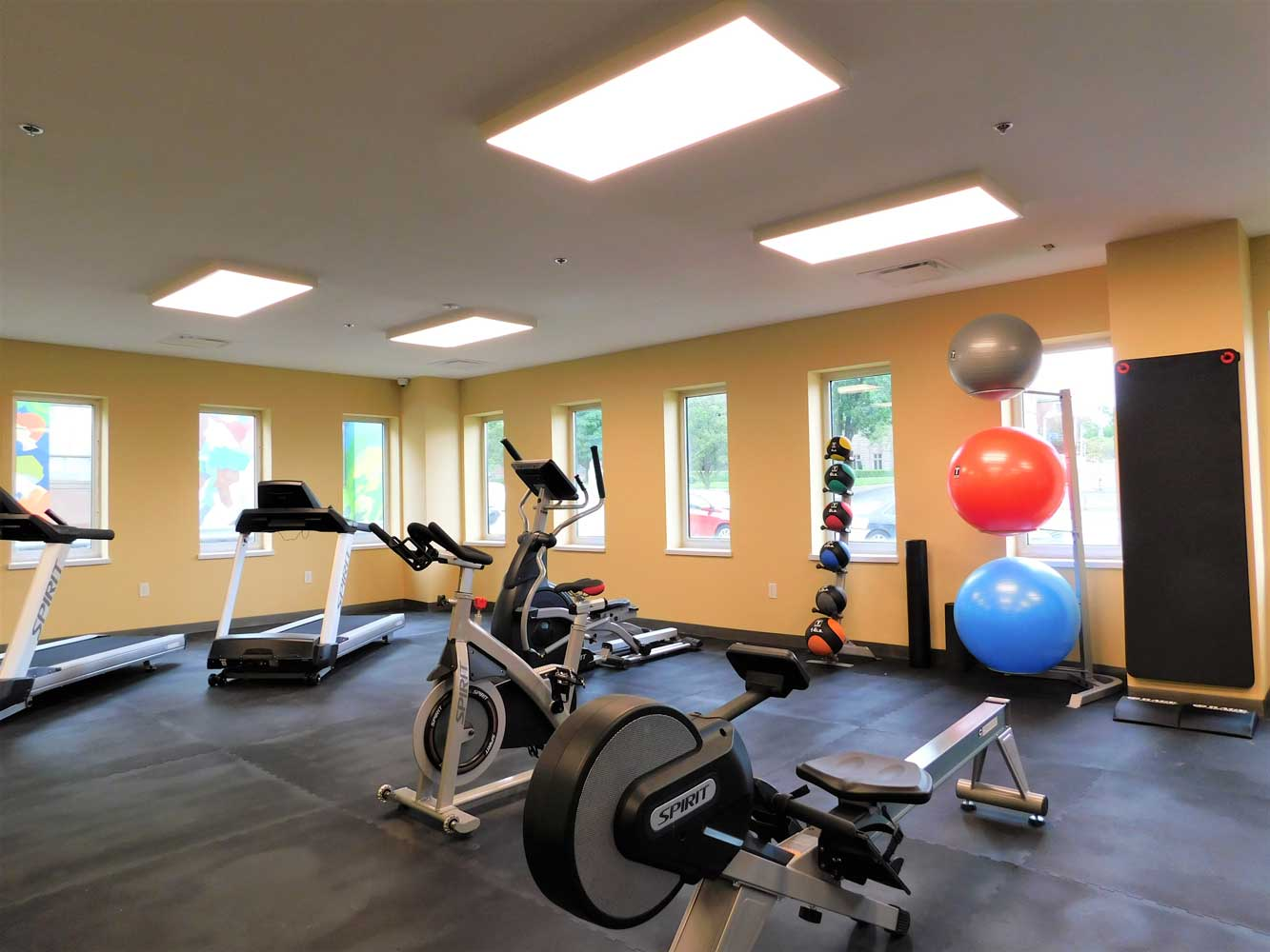 Fitness Gym at Midtown Plaza Apartments in Kansas City, MO