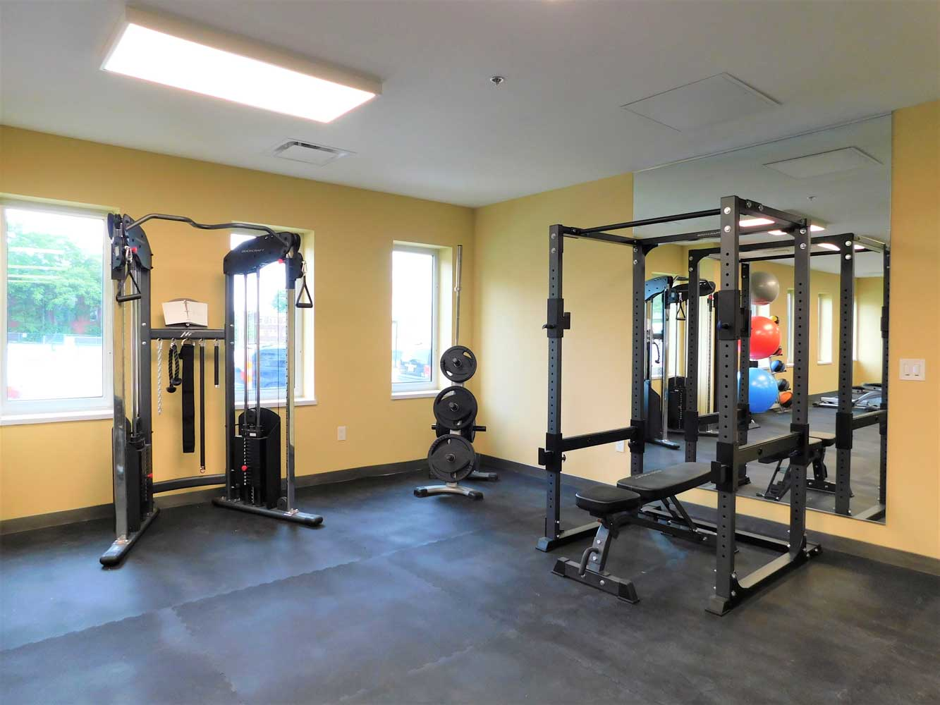 Gym Weights at Midtown Plaza Apartments in Kansas City, MO