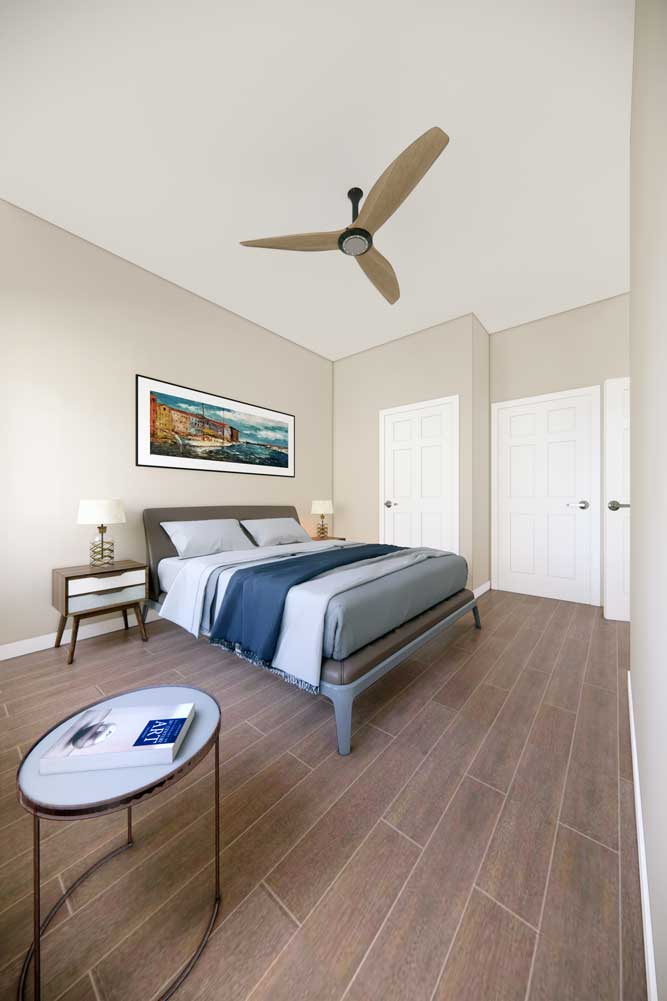 Room with Ceiling Fan at Midtown Plaza Apartments in Kansas City, MO
