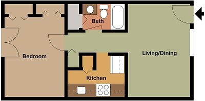 Mill House Apartments - Floorplan - MH1 A