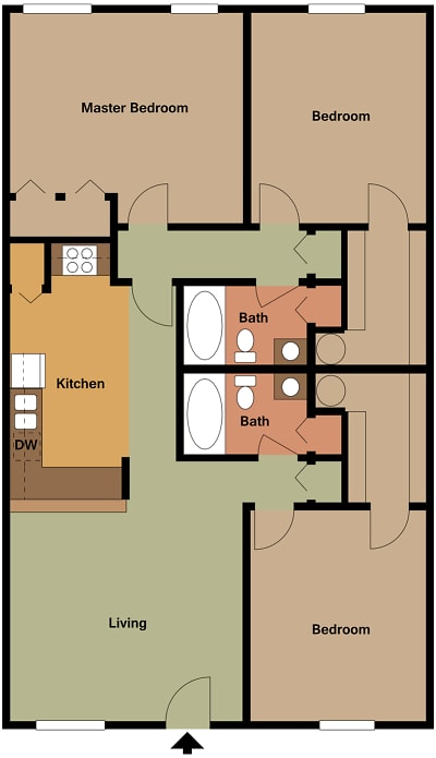 Mill House Apartments - Floorplan - MH1 C2