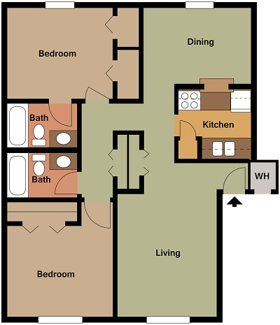 Mill House Apartments - Floorplan - MH2 B3