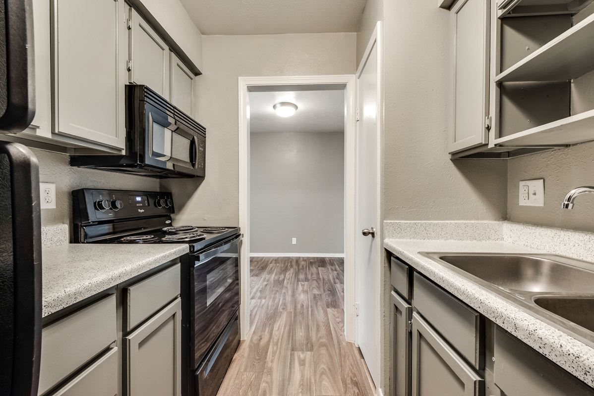Kitchen Cabinetry at Mill House Apartments in Dallas, TX