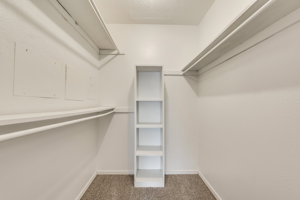 Walk-In Closets at Mill House Apartments in Dallas, TX