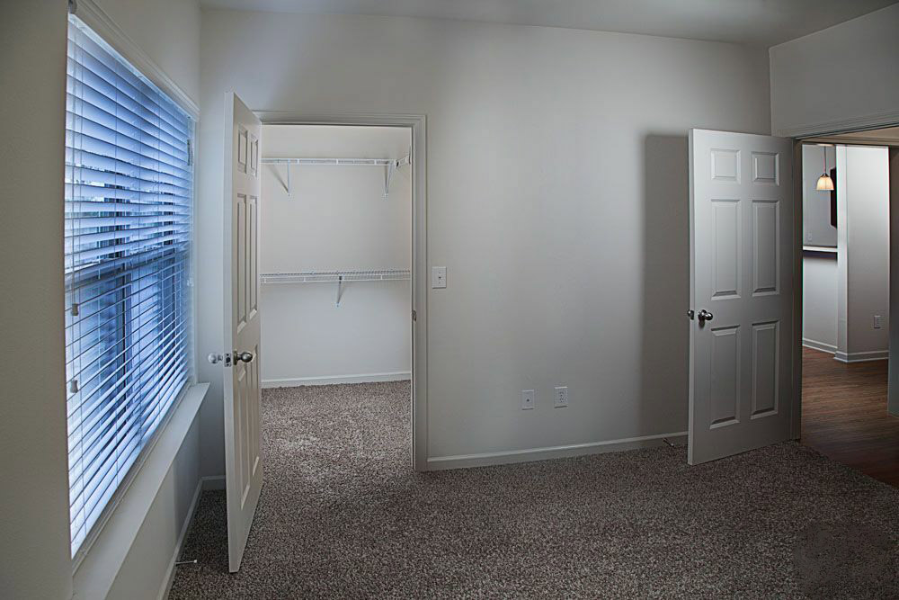Walk-In Closets at The Mill at McCullough Apartments in Belden, Mississippi