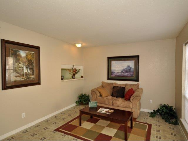Spacious Living Room at Mirabella Apartments in Houston, Texas