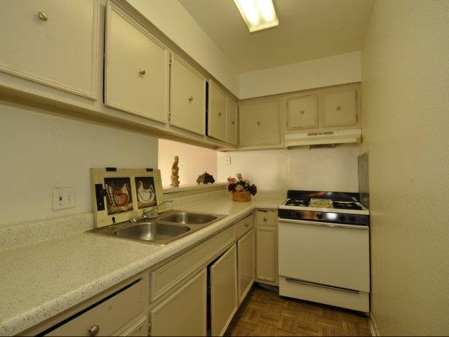 Fully-Equipped Kitchen at Mirabella Apartments in Houston, Texas