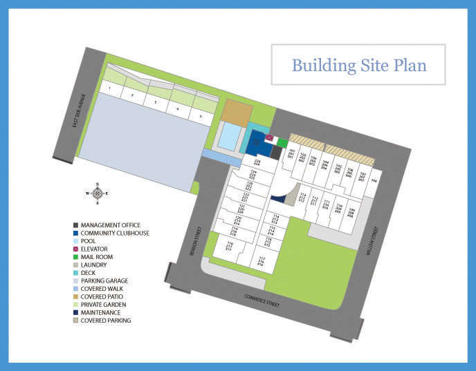 Mitchell Lofts Apartments Site Plan