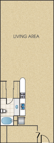 Mitchell Lofts Apartments - Floorplan - The Benson