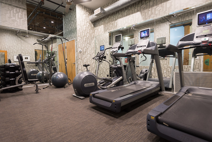 Fitness Center at the Mitchell Lofts Apartments in Dallas, TX