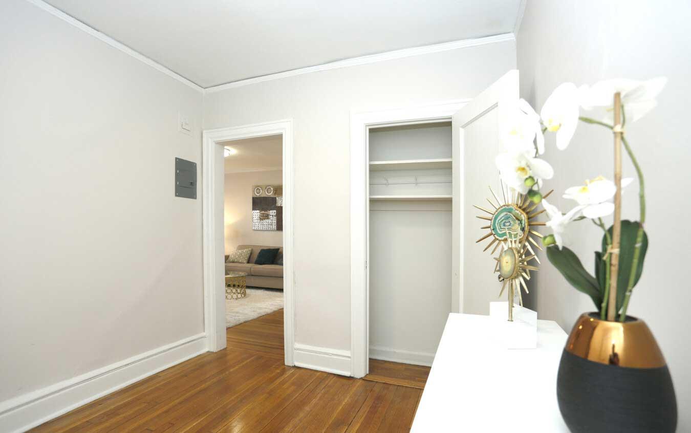 Walk In Closet at Montclair Gardens Apartments in Montclair, New Jersey