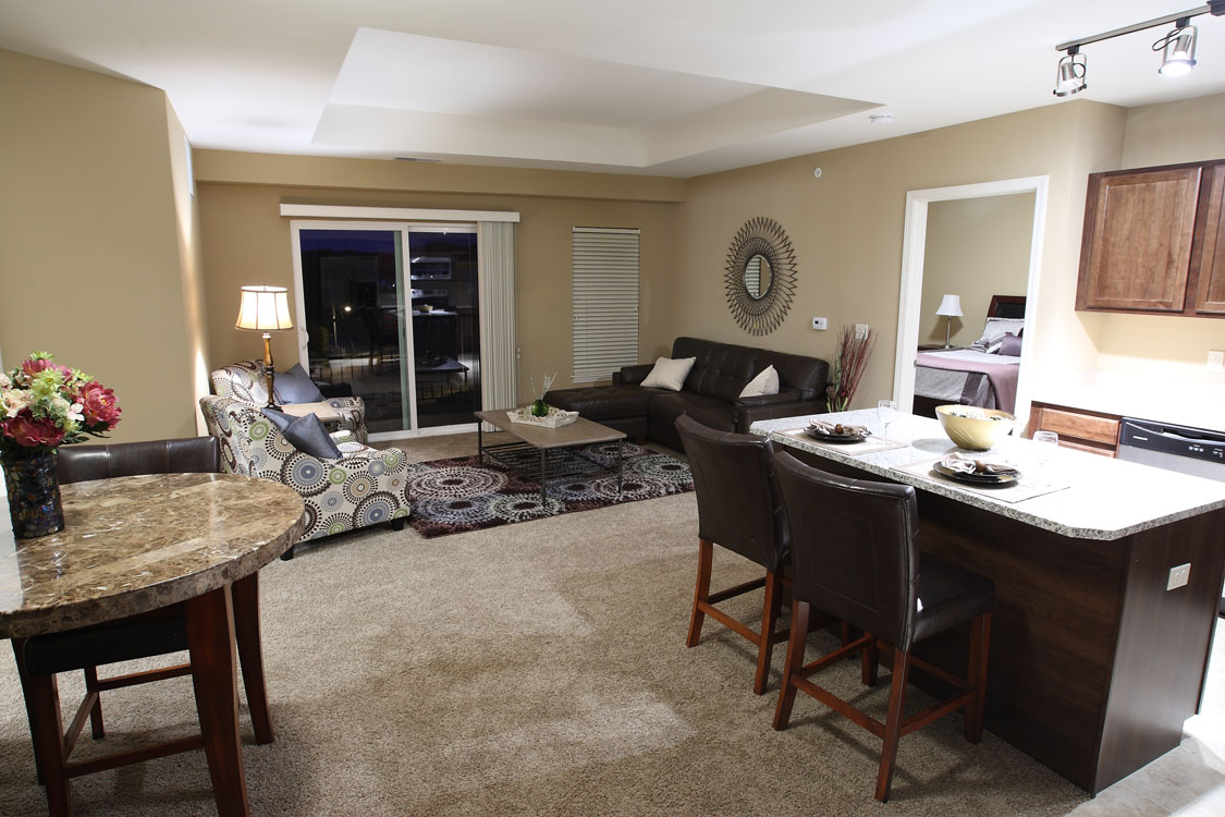1, 2, & 3 Bedroom, Open-Concept Apartments for Rent at Montclair Village in Midtown Omaha, NE.
