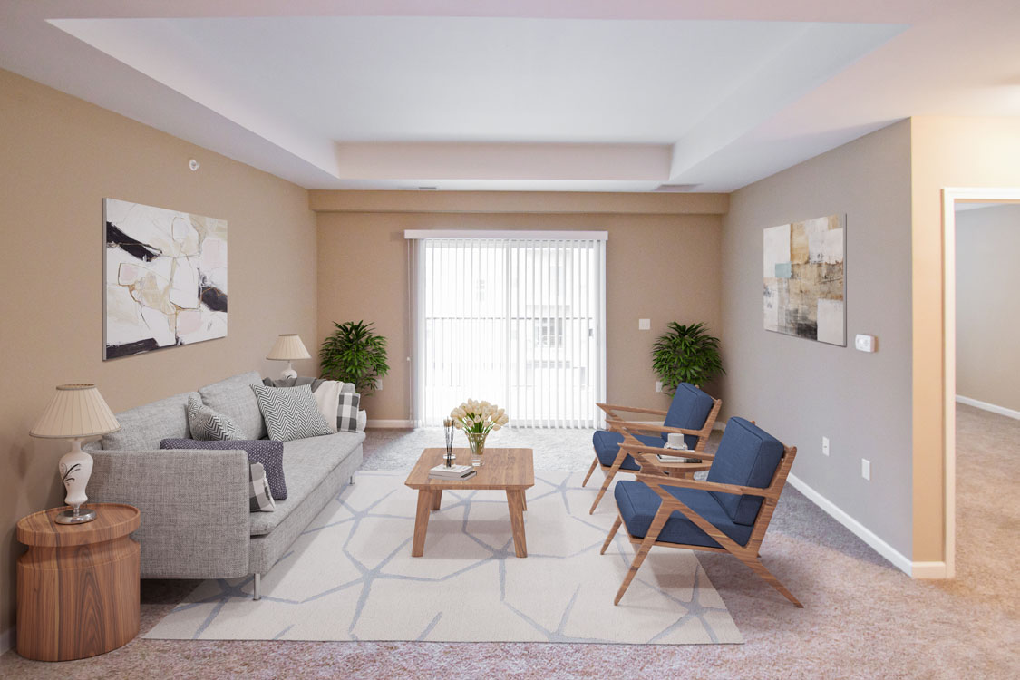 1, 2, & 3 Bedroom, Open-Concept Apartments for Rent at Montclair Village in West Omaha, NE.