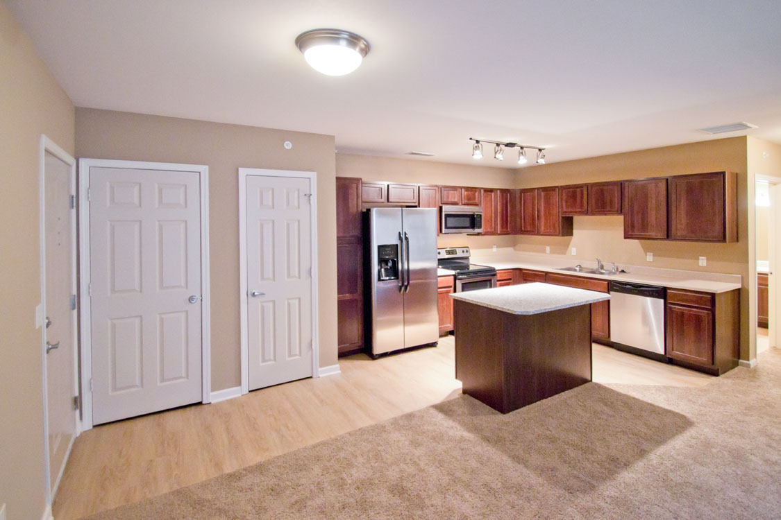 Apartments for Rent with Open-Concept Kitchens at Montclair Village in West Omaha, NE.