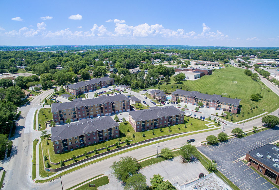 Aerial Views of Montclair Village Apartments in Omaha, Nebraska