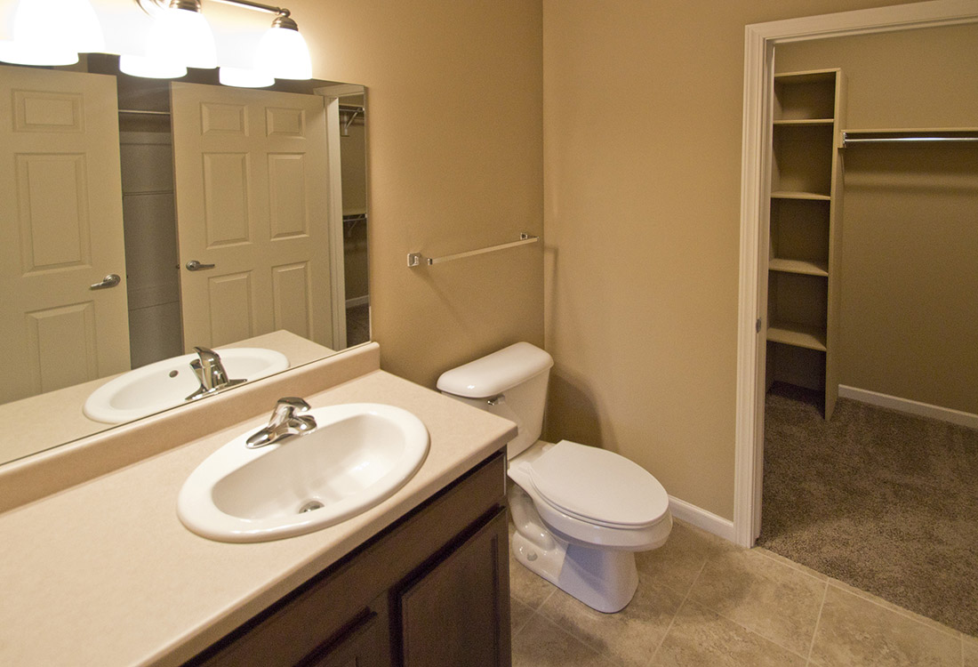 Walk-In Closets at Montclair Village Apartments in Omaha, Nebraska