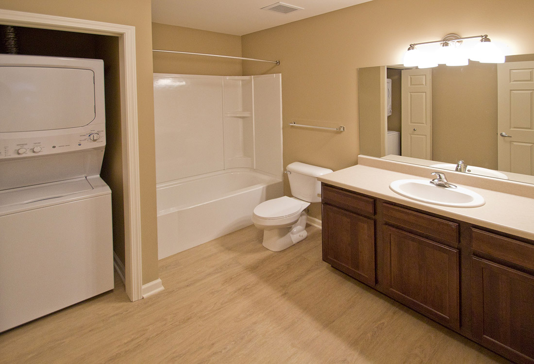 Shower and Tub Combination at Montclair Village Apartments in Omaha, Nebraska