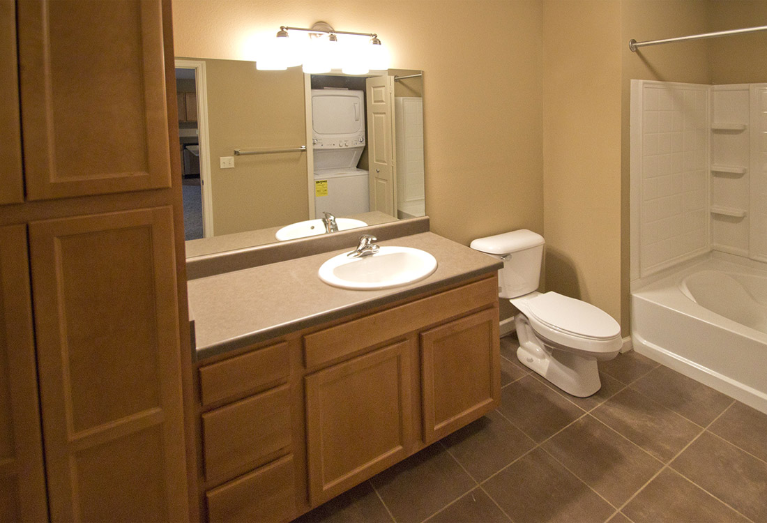 Upgraded Bathroom at Montclair Village Apartments in Omaha, Nebraska