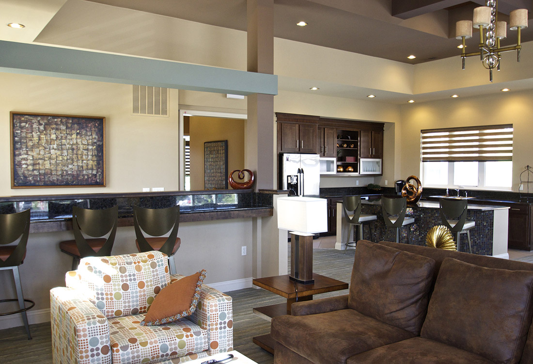 Stylish Community Room at Montclair Village Apartments in Omaha, Nebraska