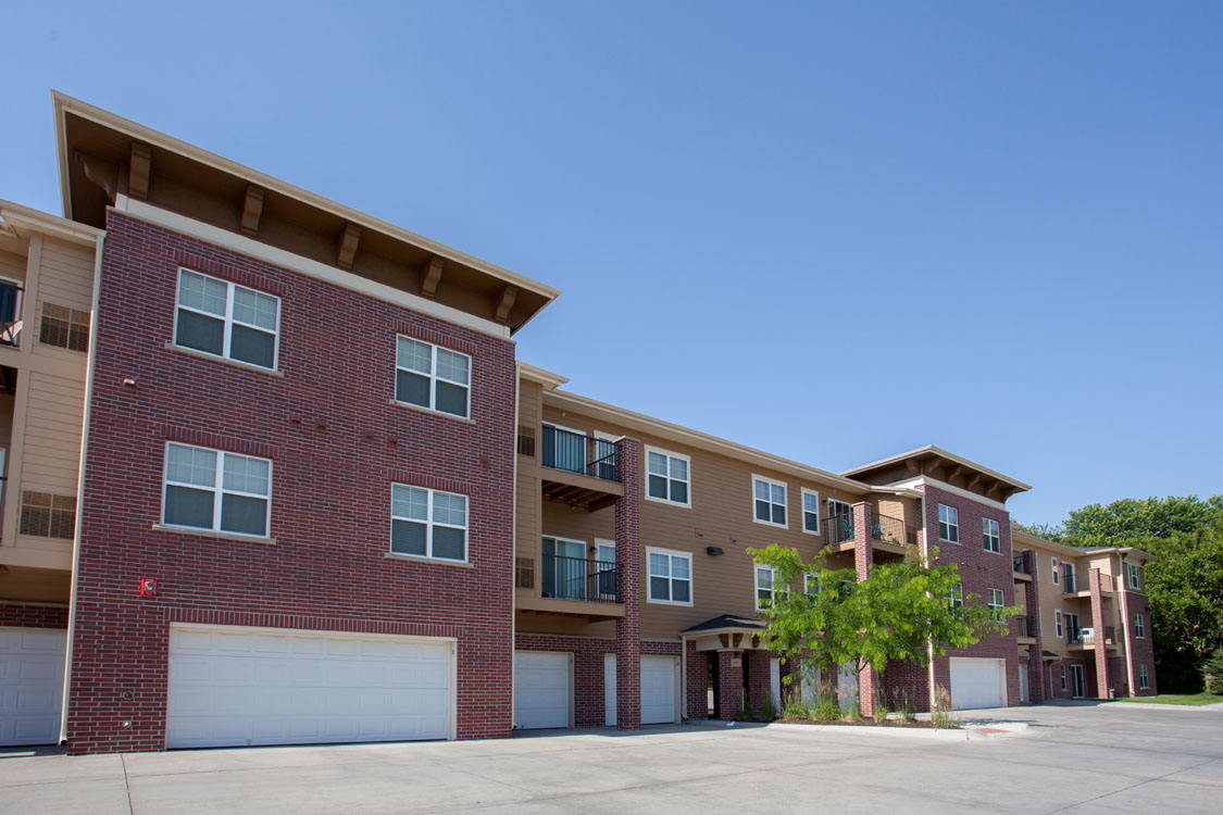 1, 2, & 3 Bedroom Apartments for Rent with Private Garages at Montclair Village in West Omaha, NE.