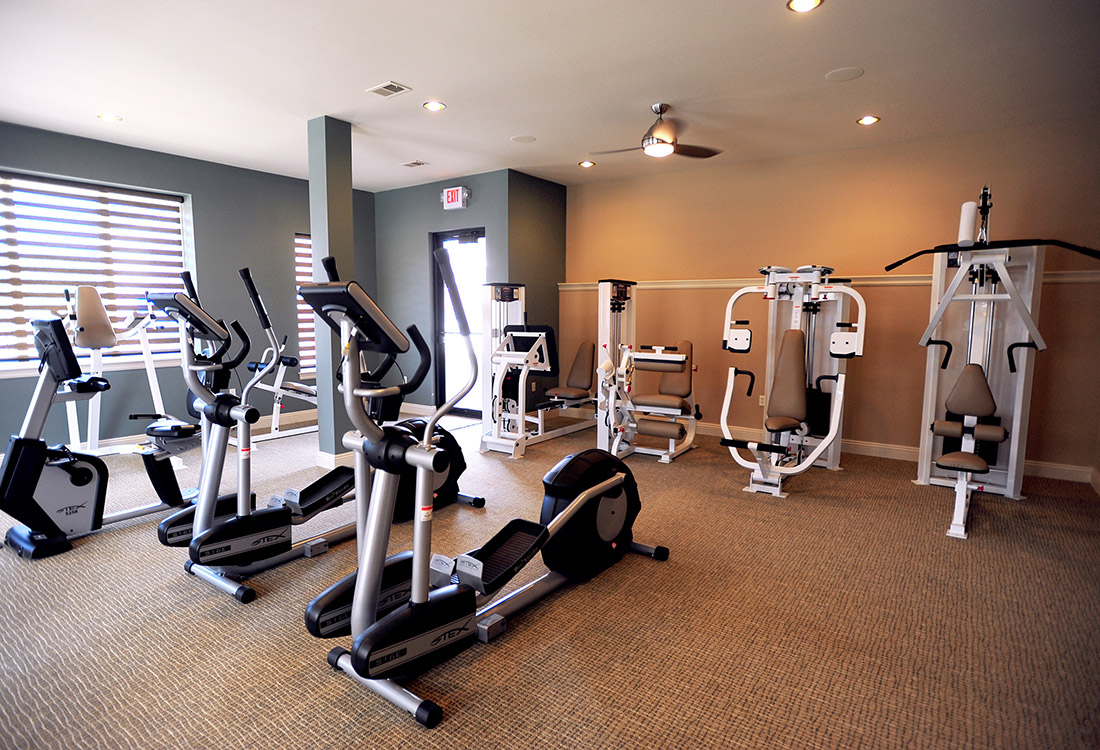 Modern Fitness Center at Montclair Village Apartments in Omaha, Nebraska