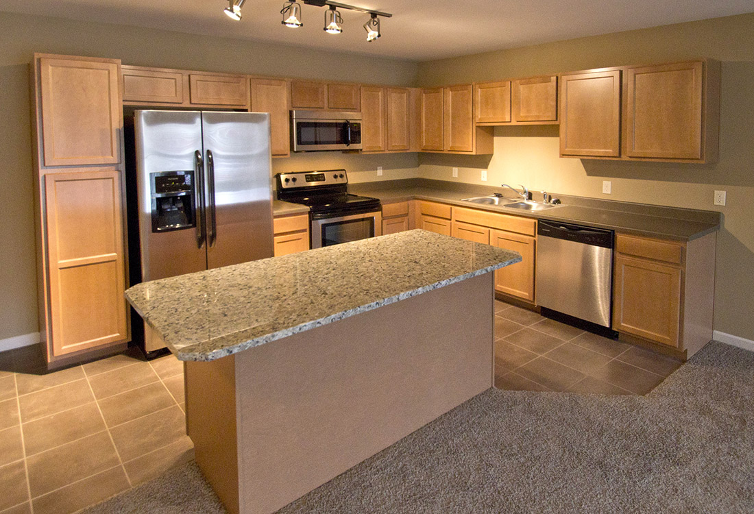 Custom Cabinetry at Montclair Village Apartments in Omaha, Nebraska
