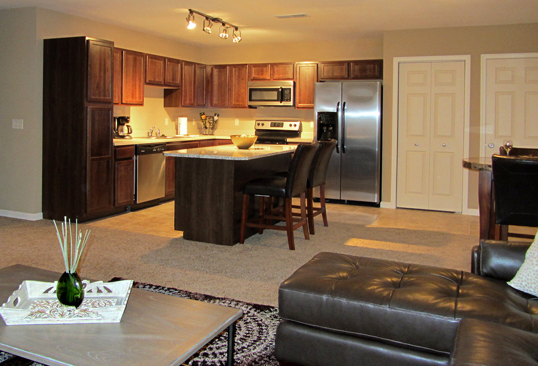 Modernized Kitchen at Montclair Village Apartments in Omaha, Nebraska