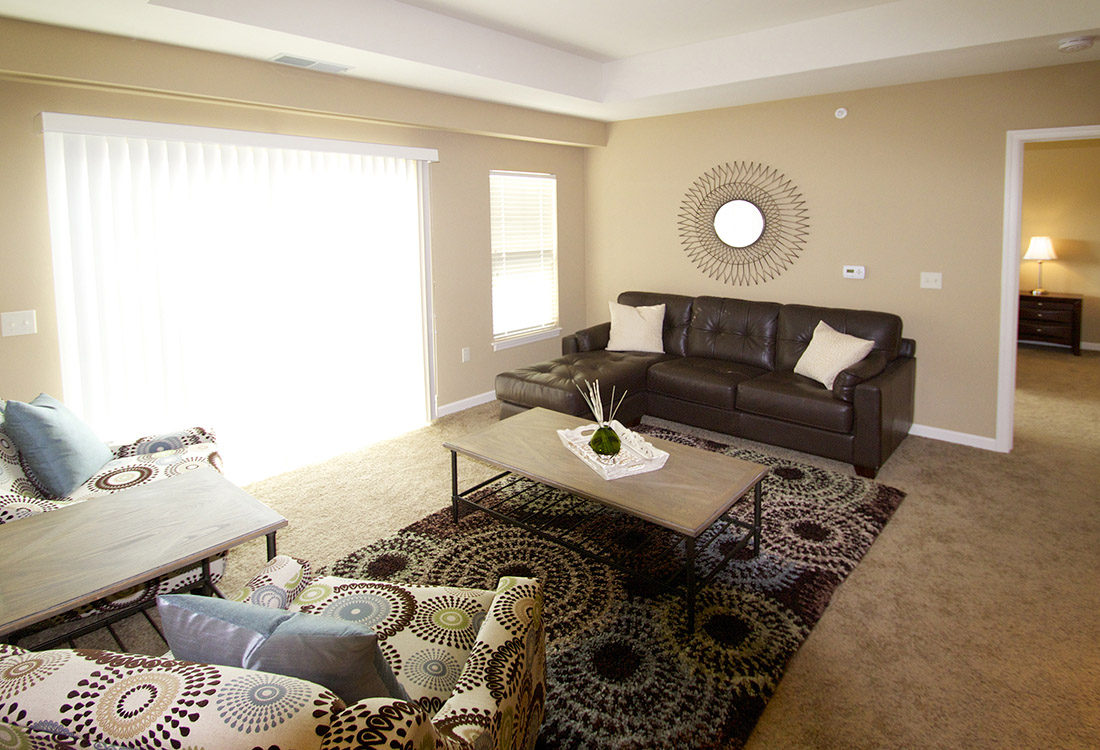 Open Living Room at Montclair Village Apartments in Omaha, Nebraska