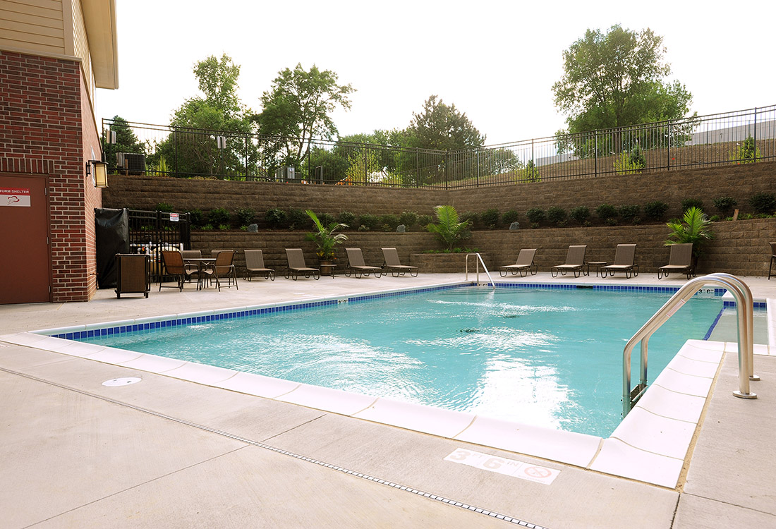 Sparkling Swimming Pool at Montclair Village Apartments in Omaha, Nebraska