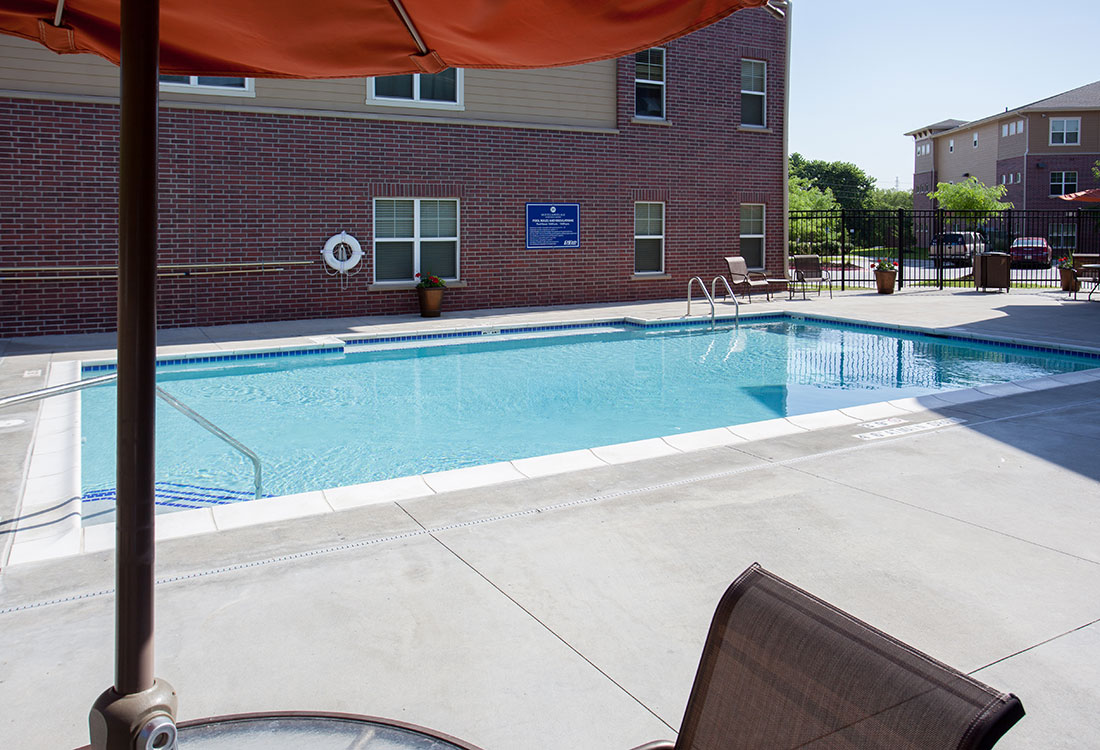 Sparkling Swimming Pool at Montclair Village Apartments in Omaha, Nebraska