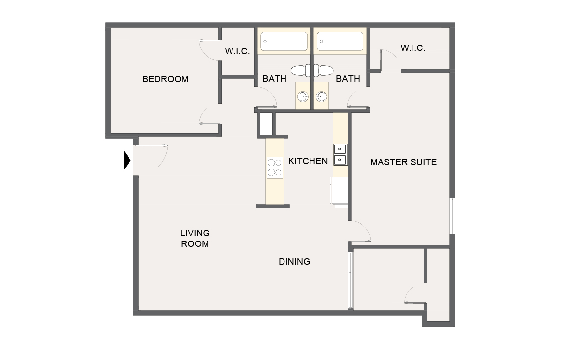 Montecito Creek Apartment Homes - Floorplan - B1