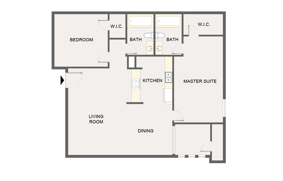 Montecito Creek Apartment Homes - Floorplan - B2