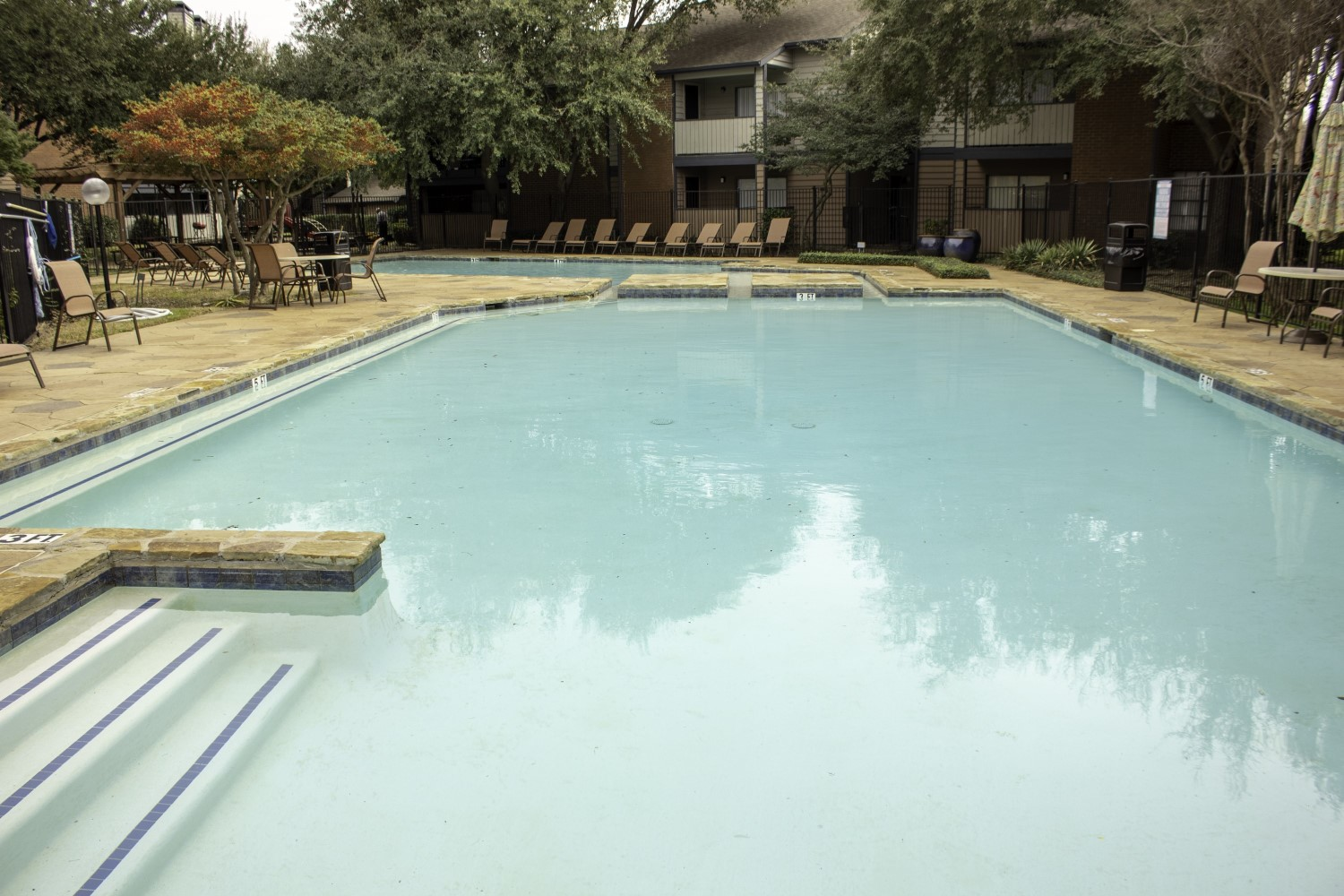 Sparkling Swimming Pool at Montecito Creek Apartments in Dallas Texas