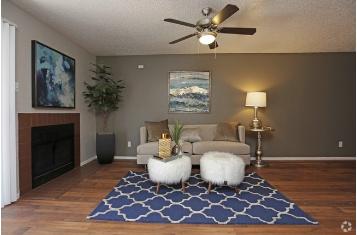 Spacious Living Areas at Montecito Creek Apartments In Dallas, Texas