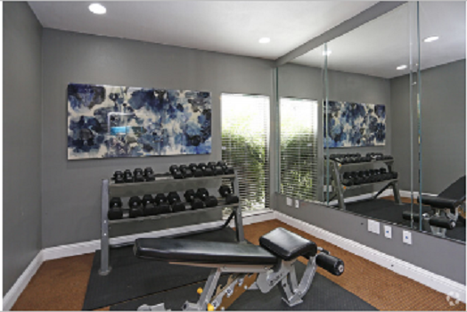 Fully-Equipped Fitness Center At Montecito Creek Apartments in Dallas, Texas