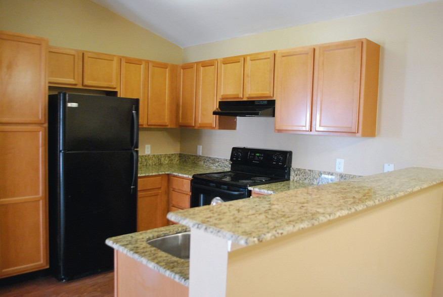Kitchen Area at the Mountain Ranch Apartments in Fayetteville, AR