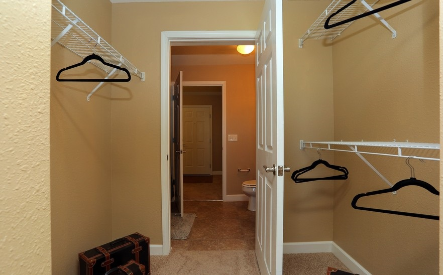 Walk-in Closet at the Mountain Ranch Apartments in Fayetteville, AR