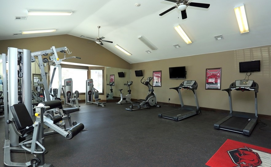 Fitness Center at the Mountain Ranch Apartments in Fayetteville, AR