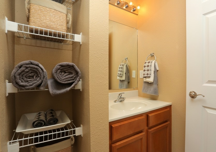 Bathroom Interior at the Mountain Ranch Apartments in Fayetteville, AR