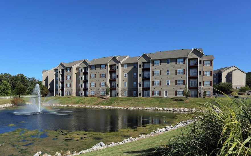 Exterior at the Mountain Ranch Apartments in Fayetteville, AR