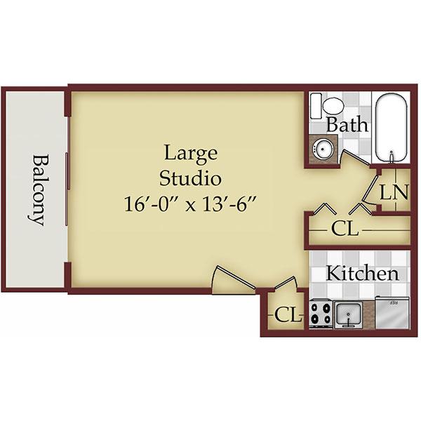 Floorplan - Large Studio image