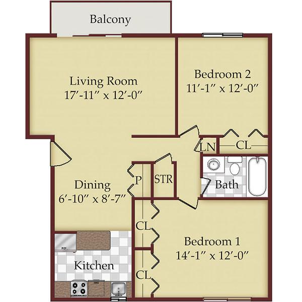 Floorplan - Two Bedroom  image