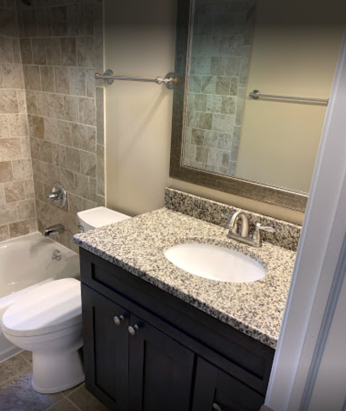 Shower and Bathroom at Mountainview Gardens Apartments in Fishkill, NY