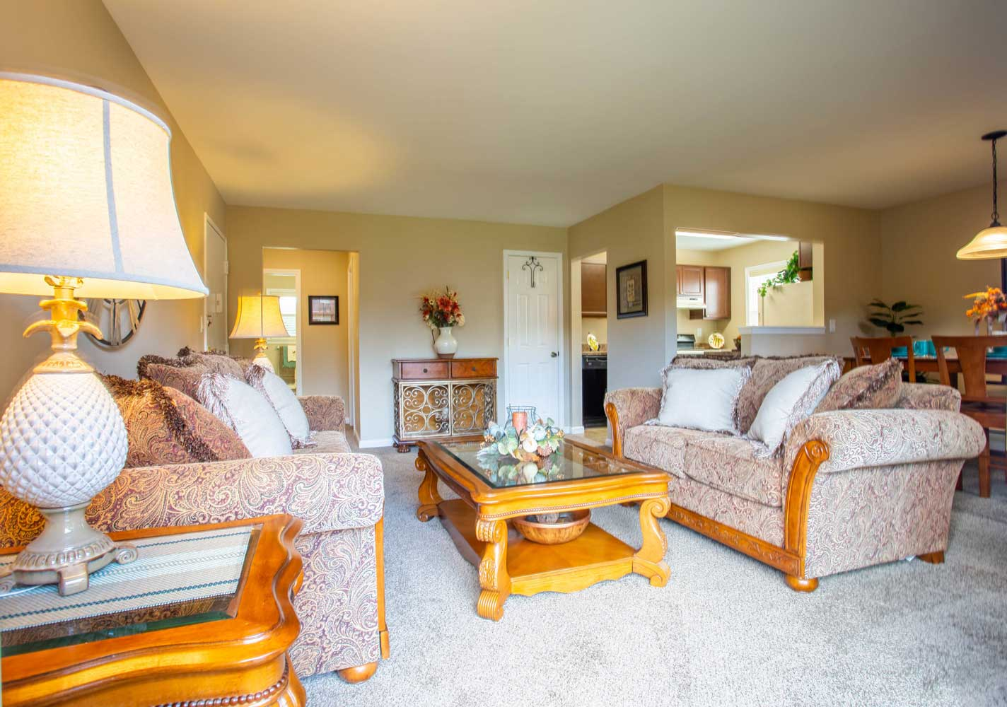 Living Area at Mountainview Gardens Apartments in Fishkill, NY