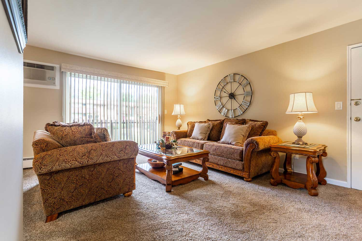 Spacious Living Area at Mountainview Gardens Apartments in Fishkill, NY
